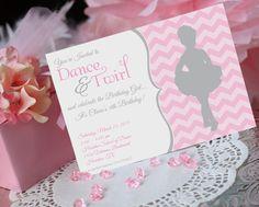 Ballet Party Invitation - Printable - Ballerina Birthday- Pink - Girl Birthday- by Amanda's Parties TO GO. $14.00, via Etsy.