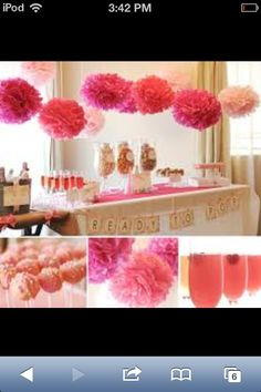 Pink tea party idea