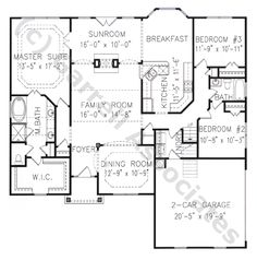 02236 Chatham B House Plan, 1st Floor Plan, Craftsman Style House Plans, Ranch Style House Plans, Wheelchair Accessible House Plans