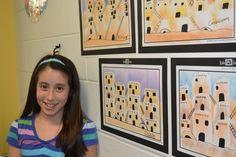 2nd grade Adobe Pueblos of Taos New Mexico. art cultur, art awesom, art project, art lesson, school art