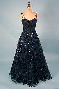 Don Loper Ball Gown, 1950s auction, balls, ball gowns, cloth, 1950s, the dress, don loper, loper ball, black