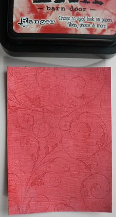 Creative Expressions: G is for Gesso Off (stamping in gesso, then adding dye ink or rub on)