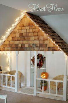 DIY indoor play house. <3 <3