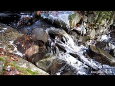 Video of the waterfall at the spillway of the Hidden Lake dam at Camp #Yawgoog, Rockville, Hopkinton, Rhode Island (RI); on the White Trail.  Recorded on December 28, 2013, by David R. Brierley.