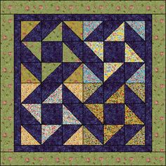 Ribbon quilt. This would be great for a quick gift that looks like it took forever but really didn't. baby quilts, quilt patterns, quilt blocks, nice pattern, hst layout, ribbon quilt