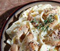 Biggest Loser Recipes - Spaghetti squash chicken Alfredo