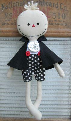 Halloween Vampire handmade cloth rag doll
