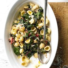 Quick-cooking orecchiette is the perfect easy dinner: http://www.bhg.com/recipes/quick-easy/dinners-30-minutes-less/30-minute-meals/?socsrc=bhgpin042614orecchiette&page=10 dinner, pan sauc, orecchiett, sauces, food, ricotta, recip, pasta, chard pan