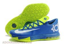 Bleu Blanc Vert Nike KD VI (6)