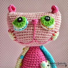 hook, crochet cat