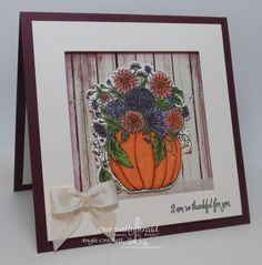 Stamps - Our Daily Bread Designs Fall Flower Pumpkin, Doily Blessings, ODBD Rustic Beauty Designer Paper Collection, ODBD Custom Pumpkin and Flowers Die