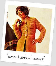 Vintage 70s Crochet COAT PDF Pattern  Mandarin by KinsieWoolShop, $3.20 pdf pattern, 70s crochet, coat pdf, crochet gift, crochet coat, knit, kinsiewoolshop, coats, vintag 70s