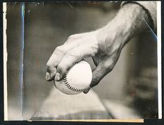 Dodgers Blue Heaven: Happy Birthday Burleigh Grimes - Vintage Photo of his Spit Ball Grip