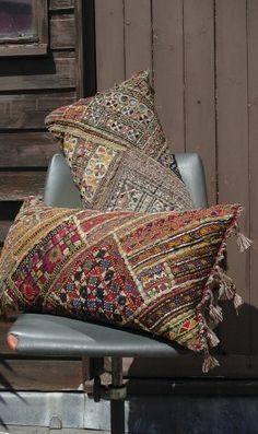 Embroidered Tribal Pillows