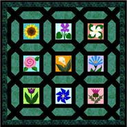 Miniature Garden Maze Free Paper Piecing Quilt Block Pattern