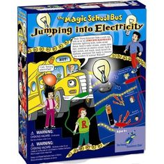 @jodiwhitsitt, Magic School Bus: Jumping Into Electricity - An exhilarating way for kids to make their first discoveries into the world of electricity. This set includes a multitude of experiments including looking at static, creating circuits, insulators and conductors and loads more exciting activities!