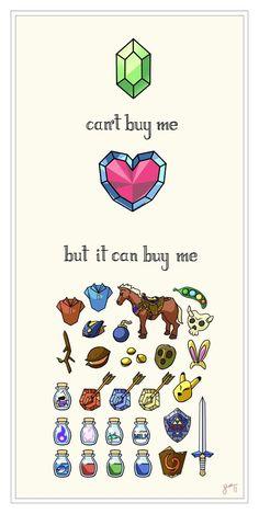Money can't buy me love...