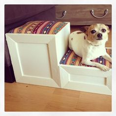 Decorative Pet Stairs by RarelyDomestic on Etsy, $55.00 - Momma you need some of these for Ella. (Robbie Funk)