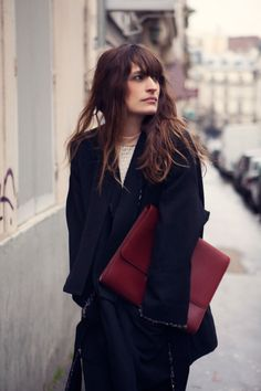 Caroline De Maigret accessorizing for fall in all the right ways