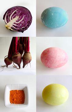 diy natural egg dyes