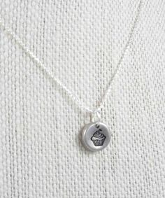 Cupcake Necklace Cupcake Charm Cupcake by LittlePineJewelry, $22.00
