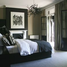 Tan And Black Bedroom Design Ideas, Pictures, Remodel, and Decor