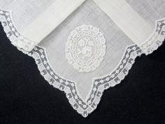vintagelinen, vintag linen, handkerchief hanki, floral handkerchief, vintage linen