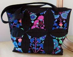 Cathedral Window Handbag Pattern - PDF
