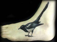 foot tattoo - bird