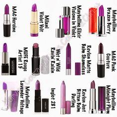 Trend Alert: Purple Lipstick MAC Heroine Mac Punk Couture Milani Maybelline Wet n' Wild Ravin' Raisin Inglot Revlon