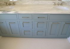 BM Van Courtland Blue vanity - WHITE + GOLD