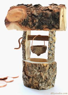 Small handmade woodland fairy garden by WoodlandFairyGardens