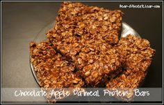 Clean Eating Recipe Box: Chocolate Apple Oatmeal Protein Bars