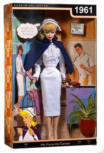 Barbie wore a dress uniform, nurse's cap, and the requisite cape ...