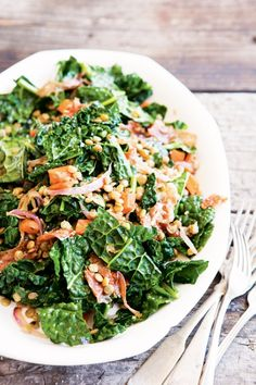 Warm Lentil and Kale Salad