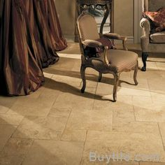 "Love this chair with the granite floor... got the ""itch"" for Italian flare ;)"
