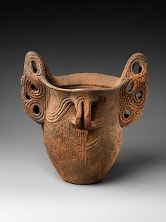 Deep Vessel with Handles, Japan: Middle Jōmon period (ca. 3500–2500 B.C.)