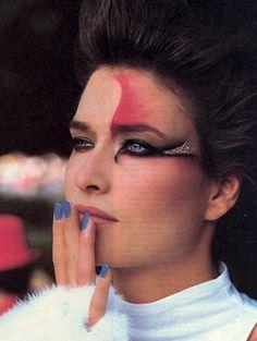 "A World Of Pleasure"", Vogue US, December 1984 Photographer : Denis Piel Model : Rosemary McGrotha"
