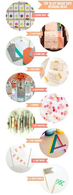 Top 10 DIY Washi Tape Wedding Ideas