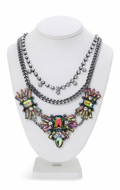 Deb Shops Statement Necklace with Stone Design $5.00