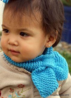Knitworthy's Child Neckie in Azul