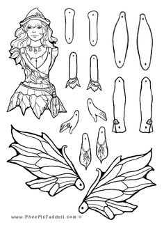 jointed paper doll template | paper dolls
