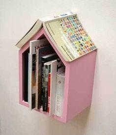 Bedside book nook