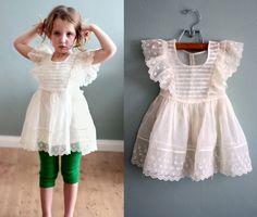 Ivory silk chiffon party dress via Etsy