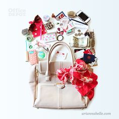 What do you get when you cross a messy bag and office supplies? Arianna Belle explains.