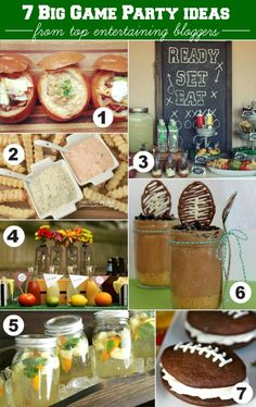 BIG GAME PARTY IDEAS FROM 7 TOP ENTERTAINING BLOGGERS  #HostessHQ  #footballparty