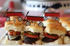Project Nursery - Red Wagon 1st Birthday Party Sliders