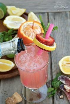 Pink lemonade and champagne