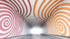The energy and intensity of the Games inspired artist Martin Richman to design a large-scale installation of swirling colours in an unlikely place – a 50m long pedestrian underpass beneath the six-lane A12 road. #olympics