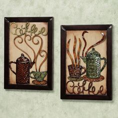Morning Delight Coffee: Metal Wall Art (Set of 2) | Touch of Class, $115.00